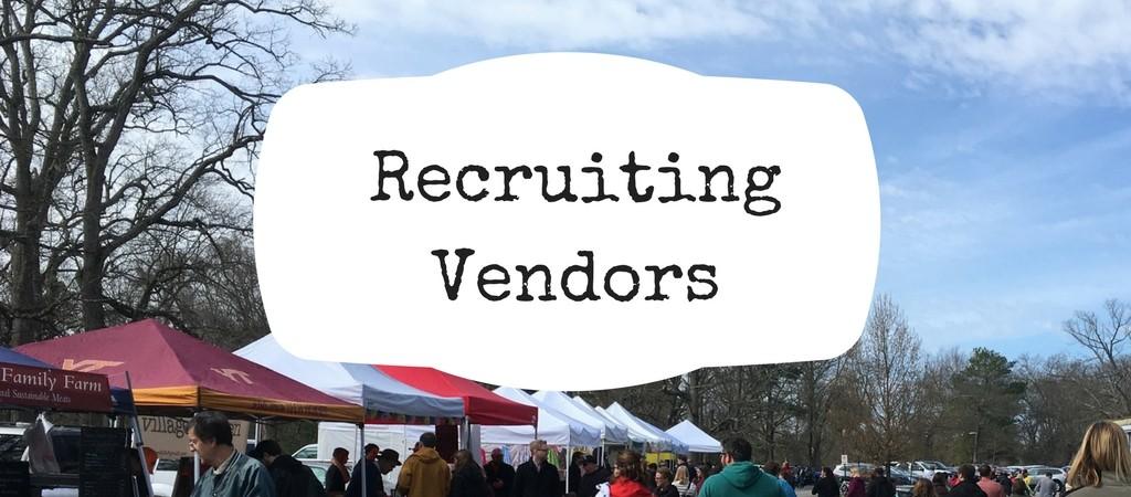 Tips for recruiting farmers market vendors