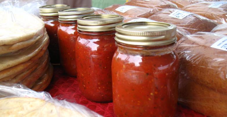 prepared food at a farmers market
